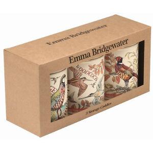 Emma Bridgewater Game Birds Set of 3 Storage Caddies with Lids for your Kitchen