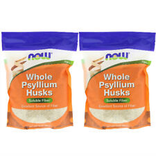 2x Now Foods Whole Psyllium Husks Healthy Cholesterol Fiber Kosher 16 oz 454 g