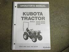 Kubota B 5100 D E B 6100 D E B 7100 D E tractor owners & maintenance manual