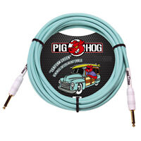 Pig Hog PCH10SG Seafoam Green Instrument Cable 10ft