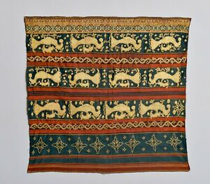 AMAZING ANTIQUE INDONESIAN TAPIS SARONG CEREMONIAL SKIRT EMBROIDERY TAPESTRY