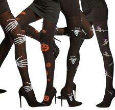 Halloween Fancy Tights Witches Sceletons 40 denier 3D by Adrian Patterned Tights