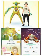 Pokémon Go Account🔥Lv33🔥✨Deoxys&Heatran🔥4⭐Reshiram🔥175Lgd&Myt🔥150x4*&Region