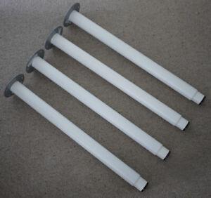 4 x IKEA OLOV Extendable/Adjustable Table/Bench/Desk Legs - White