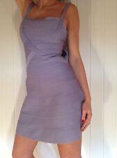 BNWT HERVE LEGER FAITH NOVELTY ESSENTIALS Dress Size S RRP £1194