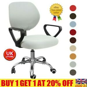 Split Computer Office Chair Cover Stretch Desk Task Rotat Seat Cover Slipcover