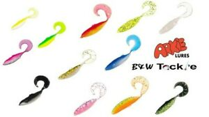Arkie Curl Tail Minnow Swim Bait~1.5 in~12 colors~1 Pk=100 Pieces-FREE Shipping