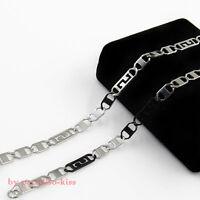 collana catena girocollo in acciaio da uomo donna argento nero c.174