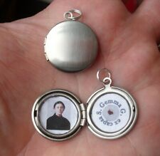 "St Gemma Galgani antique silver toned ""ex capsa"" relic locket--Very nice!!!"