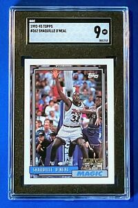 1992-93 Topps Shaquille O'Neal #362 RC Rookie SGC 9 MT HOF Freshly Graded! QTY