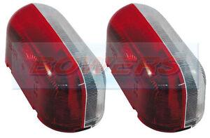 2x JOKON SPL2000 RED WHITE CLEAR SIDE MARKER LAMPS LIGHTS CARAVAN FIAT MOTORHOME