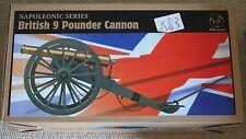 "Hizo británico napoleónicas 9 Pounder Cannon Waterloo 1/6 12"" L En Caja Juguete Dragon"