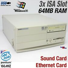 3x Isa Slot Computer PC Intel Pentium Mmx Windows 98 Sound Lan Old Games