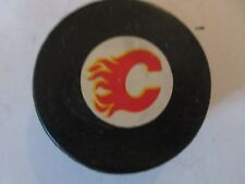 Calgary Flames Viceroy NHL Game Puck Rubberized Logos