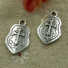free ship 1000 pcs tibetan silver cross charms 24x15mm #2965