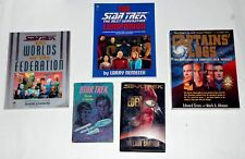 STAR TREK WORLDS OF THE FEDERATION-CAPTAIN LOGS-COMPENDIUM 1st press BOOK LOT