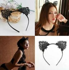 Black Lace Cat Ears Headband Animal Party Costume Head hair band Hair Accessory