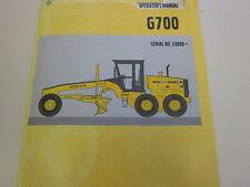 Volvo G700 Motor Grader Operators Manual