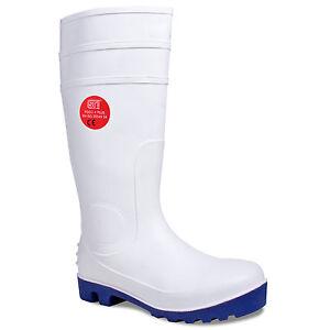 WELLINGTON BOOTS HYGIENE FOOD  SAFETY UNISEX STEEL TOE CAP WELLIES WHITE 3 -13
