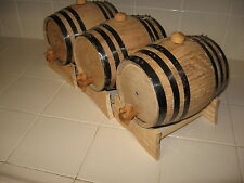 OAK BARRELS (THREE)  5 LITER FOR WHISKEY OR SPIRITS
