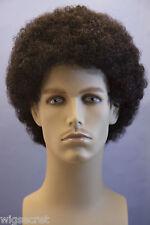 Ash Black Brunette Medium Curly Men Wig