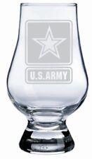 US Army Engraved Glencairn CRYSTAL SCOTCH WHISKY Whiskey Glass