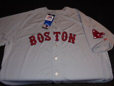 authentic Majestic Cool Base Boston RED SOX Sewn Gray Baseball Jersey 60 5XL NWT