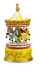 TOY WOODEN MUSICAL BOX HORSES CAROUSEL DR. DOLITTLE TALK WITH THE ANIMALS TUNE