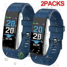 2Bluetooth Smart Bracelet Wristband Sport Watch Heart Rate Blood Pressure Fitbit