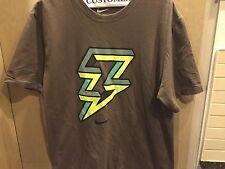 Nike Air Lightening T Shirt Sz L Brown/Grey/Green/Yellow
