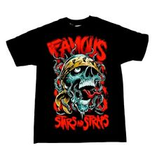 FAMOUS STARS & STRAPS THORNZ SKULL MENS T SHIRT BLACK (S)