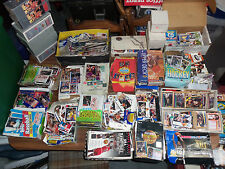 HUGE Lot 80s-90s Sports Trading Cards Baseball Football Hockey Basketball Nascar