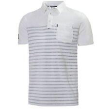 Helly Hansen Mens Blanco y Azul Koster rayas camisa Polo Medio Bnwt