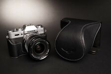 Genuine Real Leather Full Camera Case Bag Cover for FUJIFILM X-T20 X-T10 Black