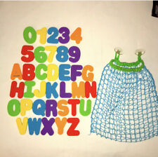 Baby Toddler Water Bath Alphabet and Number Learning Toy Set With Storage Net