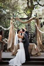 Wedding Arbour Burlap Hessian Decoration Fabric 26 feet 8 meters long Backdrop