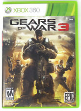 Xbox 360 Gears of War 3 Disc Case Manual Stickers Disc is Scratch Free VGUC