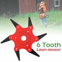 6Steel Blades Razors Lawn Mower Grass Eater Trimmer Head Brush Cutter Tools