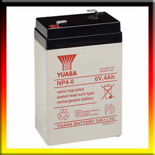 2 X YUASA 6V 4AH (4.5AH) Rechargeable Battery RC Model Toys Boat Hovercraft