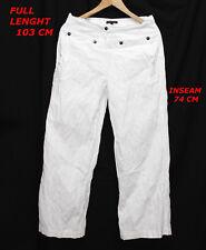 SARAH PACINI LADY WOMAN WHITE COLOR PANT SIZE 1 LENGTH 103 CM INSEAM 74 CM