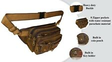 Canvas Army Fanny Pack 106 Big & Tall 5 XL Travel Hip Pouch moon belly purse
