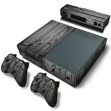 Xbox One Design pelle sventa Adesivo Pellicola Protettiva Set - Grey legno Motif