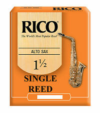 Rico Orange Alto Saxophone Single Reed Strengths 1.5 2 2.5 3 3.5 Free Delivery