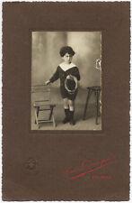 Palermo Bel ritratto di bambino con corda e sedia Foto orig Incorpora 1900c L838