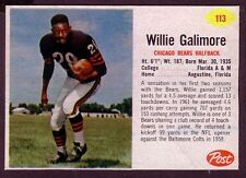 1962 POST WILLIE GALIMORE CARD NO:113 HAND CUT