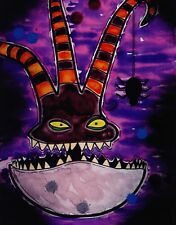 NIGHTMARE BEFORE CHRISTMAS SPOOKED PANORAMIC Print HAND SIGNED Damon Bowie w COA