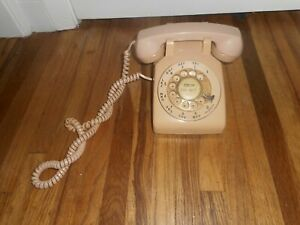 Vintage RETRO BEIGE BELL SYSTEMS ROTARY Desk Table Wall PHONE TELEPHONE