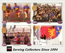2002 Select AFL EX Brisbane Premiership Limited Edition 3-Card + Predictor Card