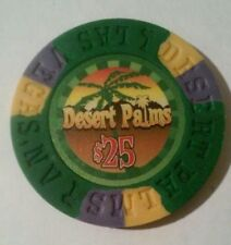 DESERT PALMS CASINO LAS VEGAS, NEVADA FANTASY $25.00 CHIP GREAT FOR COLLECTION!