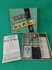 Vintage 1950 Parker Brothers Clue Game in Original Box No Board